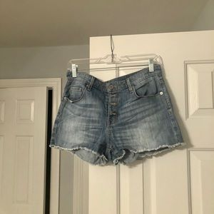 Mossimo Supply Co. High Rise Denim Shorts Size 8